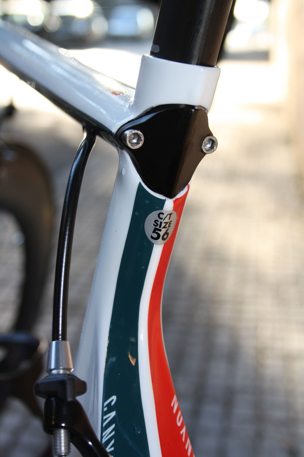 The tidy seatpost clamp is neatly integrated into the frame's sleek lines.