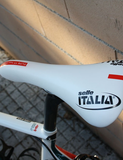 Philippe Gilbert (Omega-Pharma Lotto) uses Selle Italia's Flite TT Team Edition saddle.