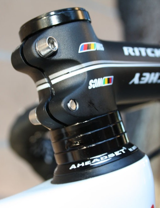 Headset spacers are definitely not something we're accustomed to seeing on pro riders' Canyon machines.
