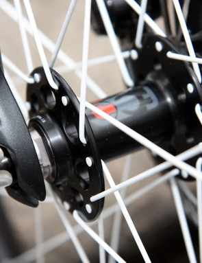 The Fisher Control Column concept uses larger diameter hub end caps and bigger spoke flanges to decrease front-end flex.