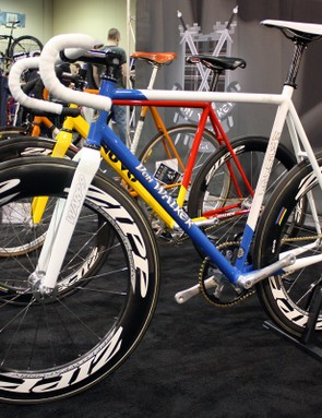 NAHBS founder and director Don Walker is an accomplished frame builder in his own right, specializing in steel track bikes.