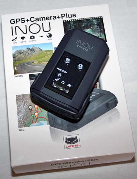 Cateye's new Inou combines a GPS unit with a camera and can be mounted on your handlebar or helmet