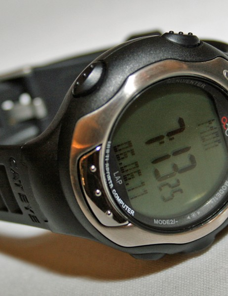 Cateye's waterproof Q series watches combine a heart rate monitor with cycling computer functions such as measuring speed and cadence (on the £175 Q3) and altitude (on the £225 Q3A)