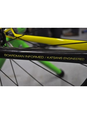 The chainstay of Rory Sutherland's Boardman Elite AiR time trial bike
