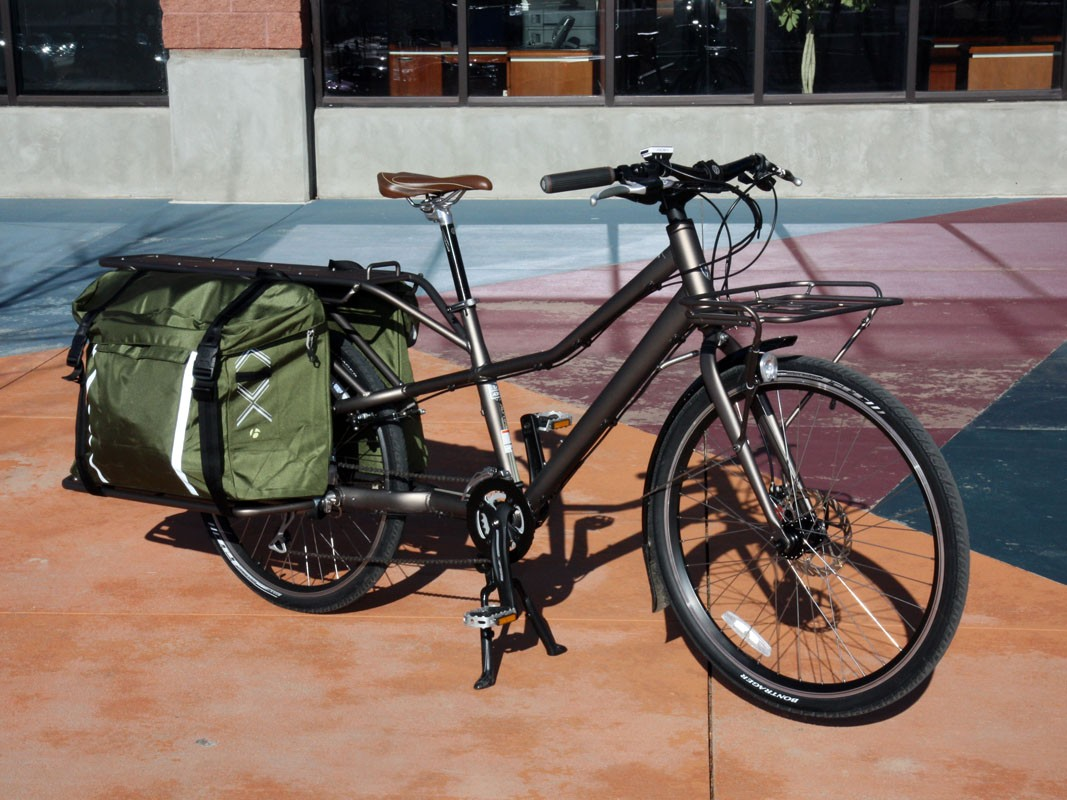 This has been my 'car' for the last couple of weeks and for a few weeks more yet: a Trek Transport+ utility bike with 100kg (225lb) of cargo capacity and 350W of pedal-assist power.