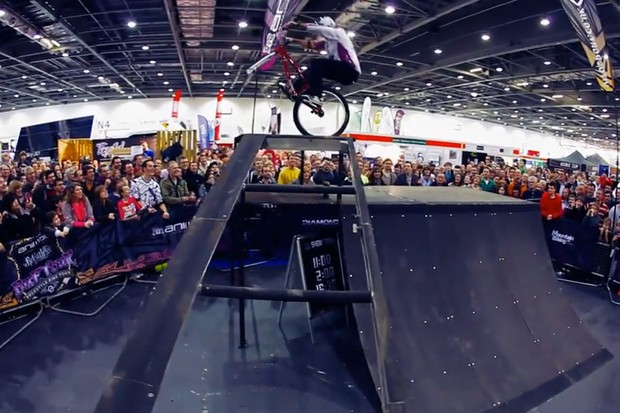 Martyn Ashton wows the crowds at The London Bike Show