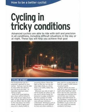 A page from IAM's 'How to be a Better Cyclist' guide