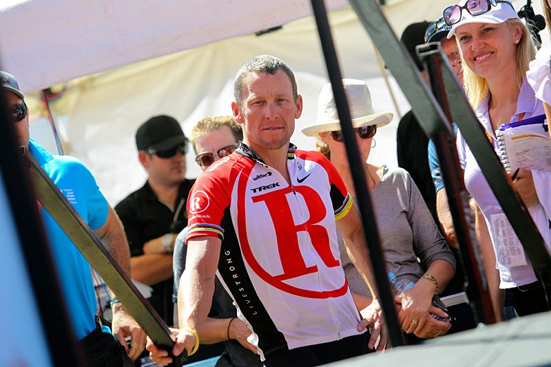 Lance Armstrong at the Tour Down Under, his final international road race