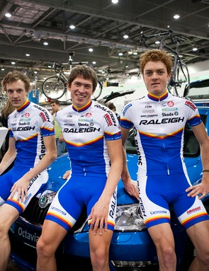 Team Raleigh have been bolstered with some international signings for 2011: (L-R) Ryan Parnes, Jeroen Janssen, Phil Mooney, Gael LeBellec, Jamie Sparling