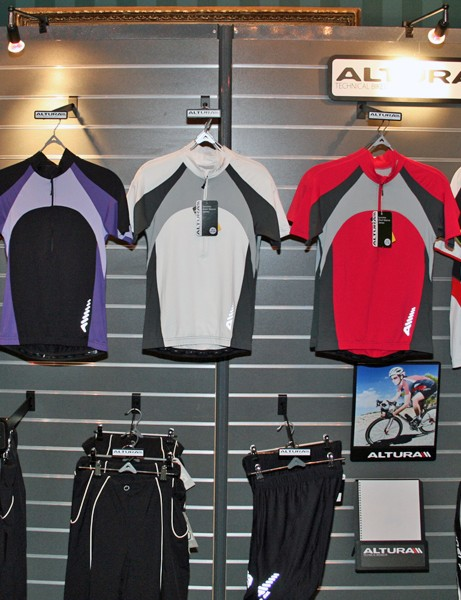 Altura women's road jerseys and shorts