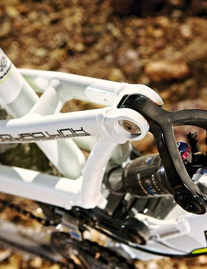 Marin's proven Quad Link set-up  gets pinched and slimmed to save significant weight