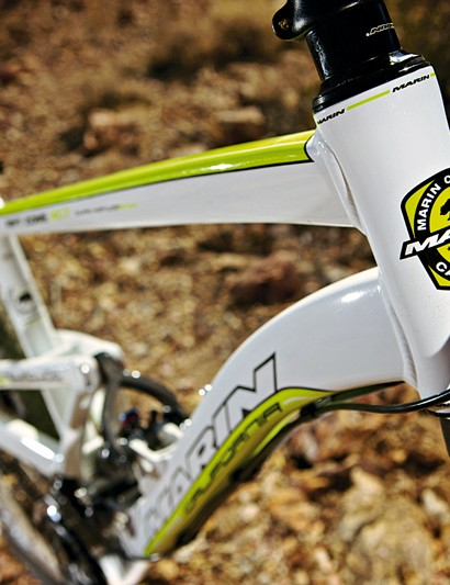 The skinny head tube can be upgraded to take a tapered fork, but it's not as stiff as a cone-headed chassis