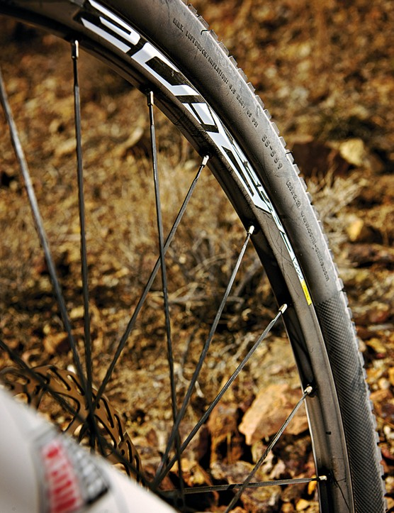 Bladed spokes and low profile  treads mean rapid rolling
