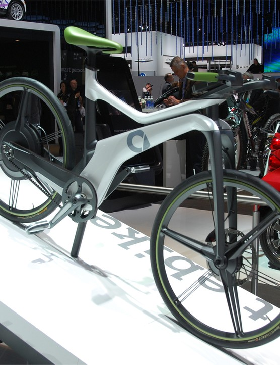 Just about everything on the eBike can be classified as 'concept' and is custom fabricated