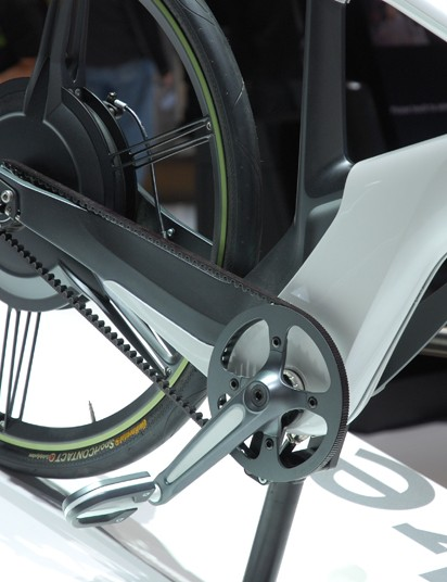 The concept eBike looks to use a Gates Carbon Drive belt