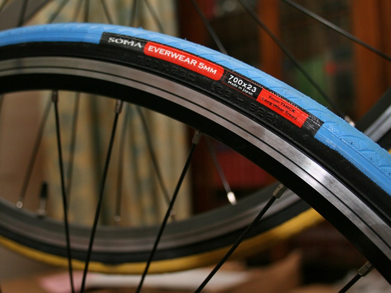 Soma's Everwear tyres come in a range of colours