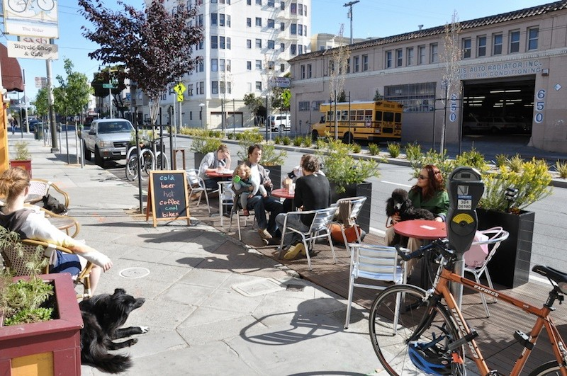 San Francisco Parklets were the subject of a recent Streetfilms documentary