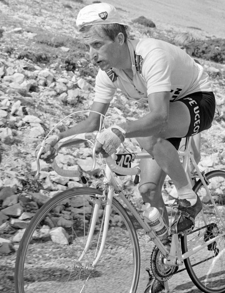 Tom Simpson, pictured shortly before his death during the 1967 Tour de France, could be the subject of a new film