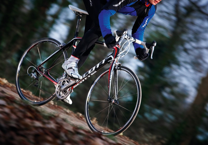 The Scott is superlight but at the cost of stiffness