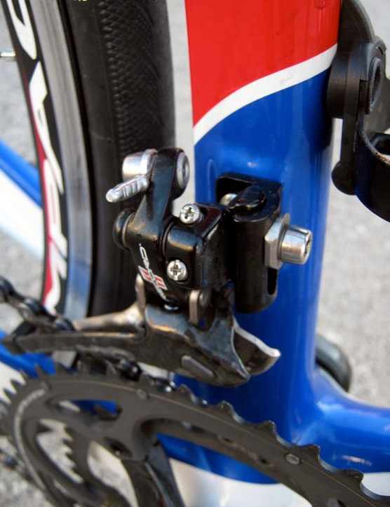 Campagnolo has fitted the latest Record 11 front derailleurs with stiffer mechanisms for faster shifts under power.