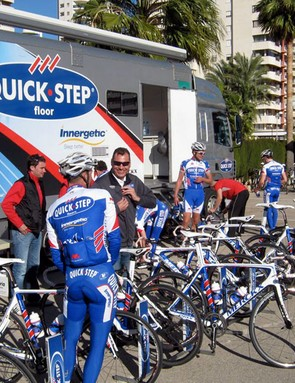 Quick Step recently logged some team training time in Calpe, Spain.