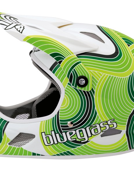 Bluegrass Brave Green Waves helmet