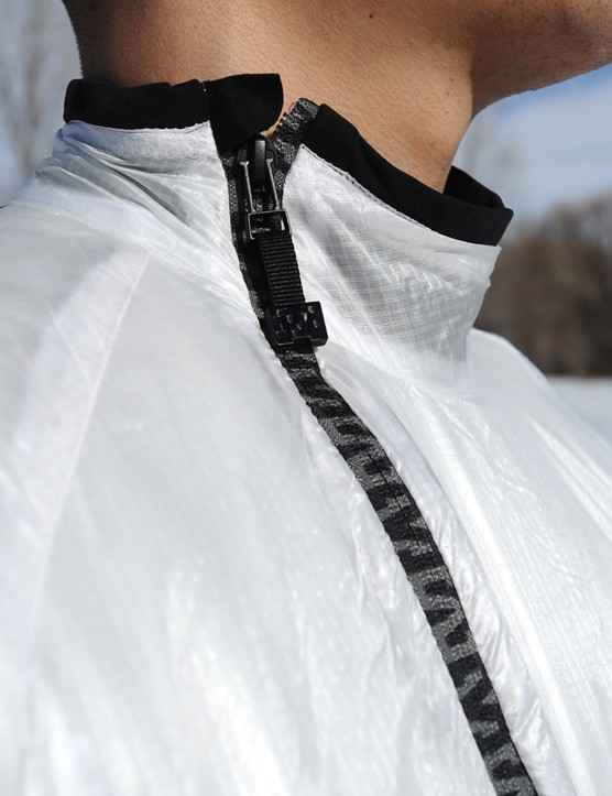 The offset zipper moves the hard bits away from your chin