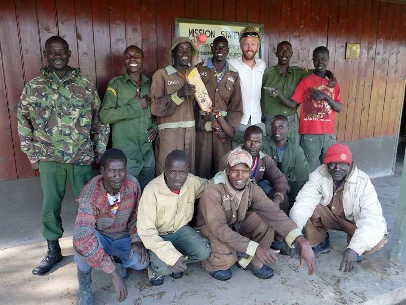 Oli with game wardens at Ol Pejeta Conservancy outside Nanyuki, Kenya