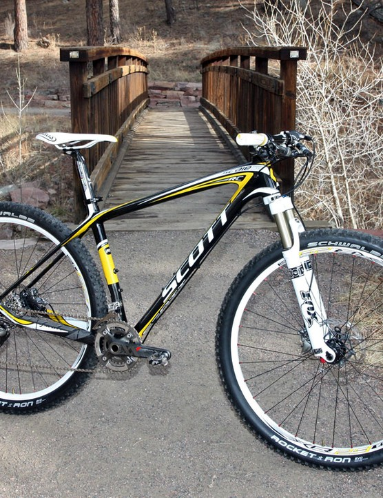 Scott's Scale 29 RC is a blazingly fast and light 29er but also remarkably composed in general trail riding situations