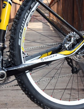 The chain stays are big and fat for good power transmission but they don't hamper the ride quality