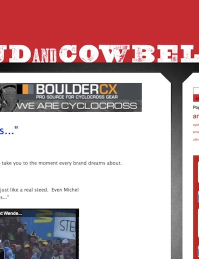 MudandCowbells' content ranges from heart felt monologues to news and gear reviews