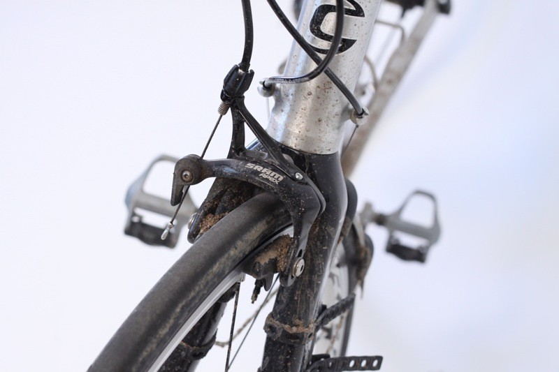 Along with the cranks, the Apex brake calipers were a place where performance is conceded