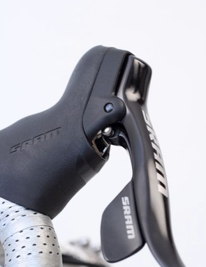 The Apex DoubleTap shifters have all of the bells and whistles of SRAM's other shifters, save for a ZeroLoss rear mechanism