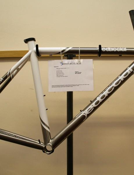 Dedacciai K19 Titanium road frame – £2,185 (frameset, 1,680g)