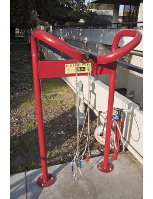 Fresno State's bicycle stations double as repair racks