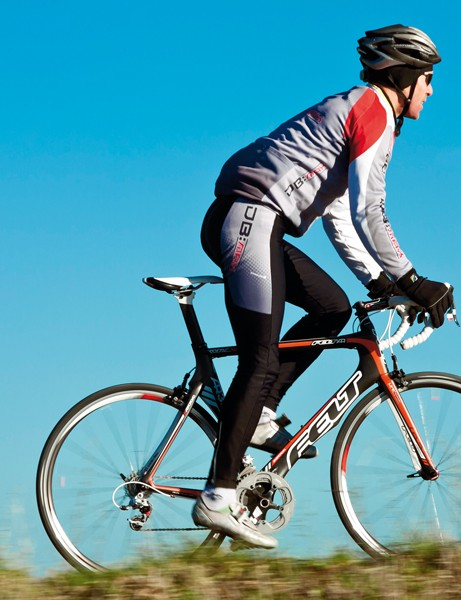 As agile and fun as a race bike should be, but stable enough if you fit clip-on tri-bars.