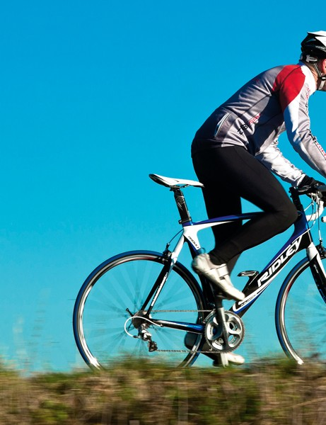 The Ridley offers the speed to hit the front and the comfort to stay there