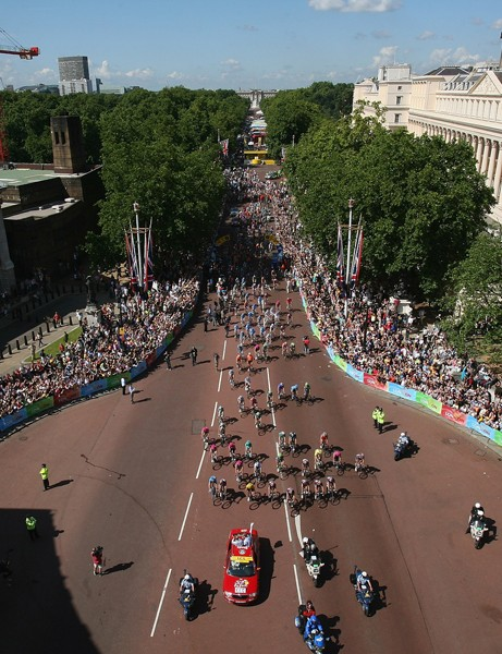 Road racing at the 2012 Olympics will begin and end on The Mall, in front of Buckingham Palace