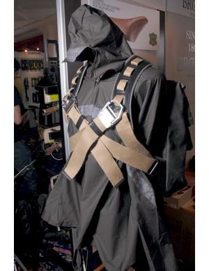 Brooks Oxford rain cape and Islington rucksack