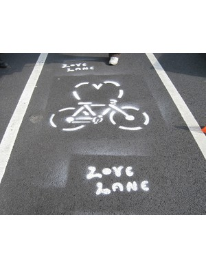 The love your lane campaign looks to encourage cycling within NYC