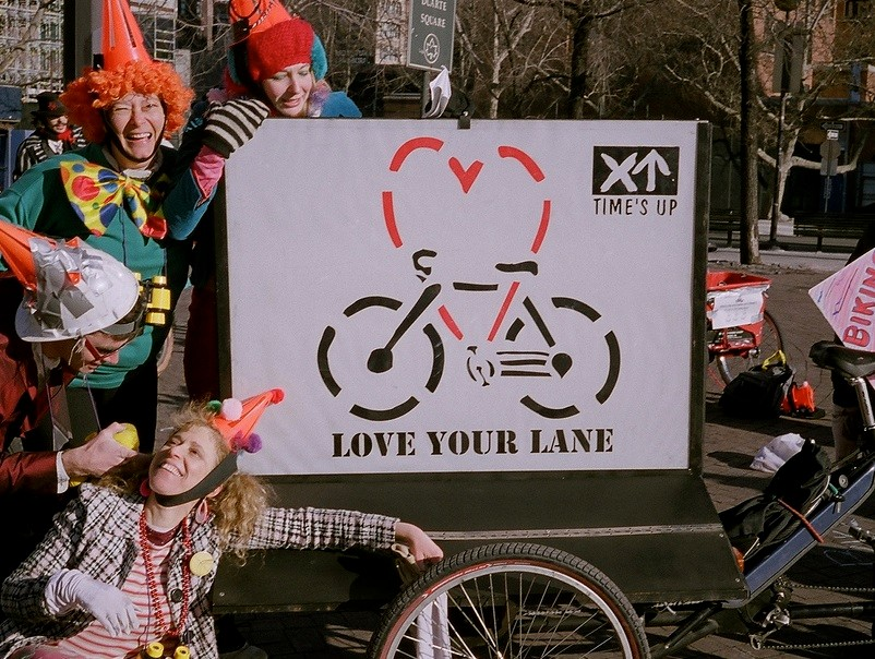 The 'New York Peace Department' work the love your lane campaign