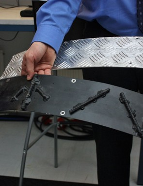 Wheel Energy test tire rolling resistance using a number of different surfaces