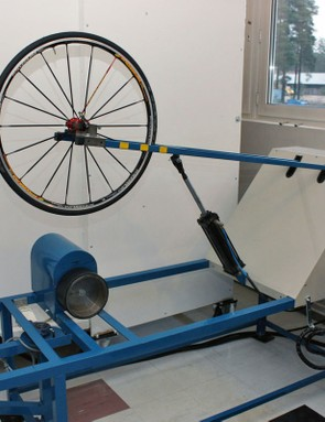 Tires are first warmed up and 'broken in' before rolling resistance measurements are taken