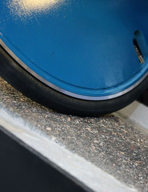 Wheel Energy test tire friction in both upright and angled orientations to simulate straight-line and cornering grip