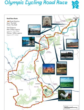 London 2012 Olympic Games road race route