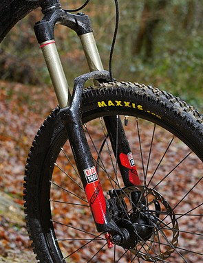 A 120mm travel fork plus quick-release front wheel means you'll be working harder to keep the front end going where you want it to