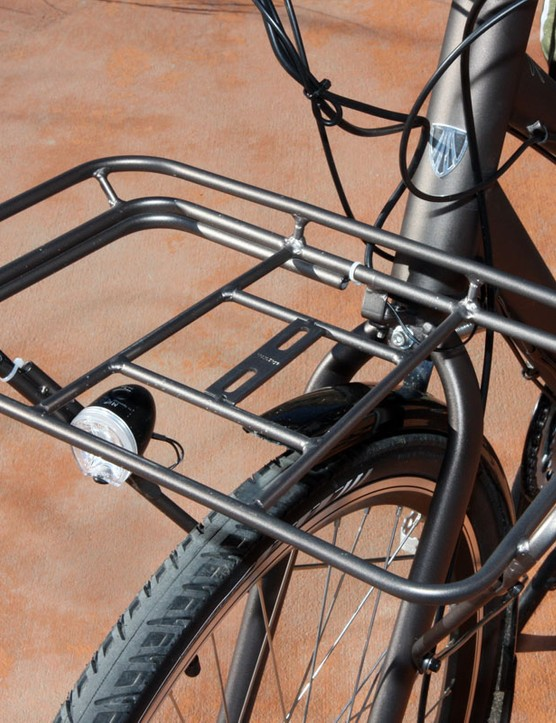 Need more room?  The front rack is rated for about 10kg