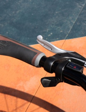 The stock Bontrager Satellite Plus grips are comfortable for bare hands and don't twist on the bars