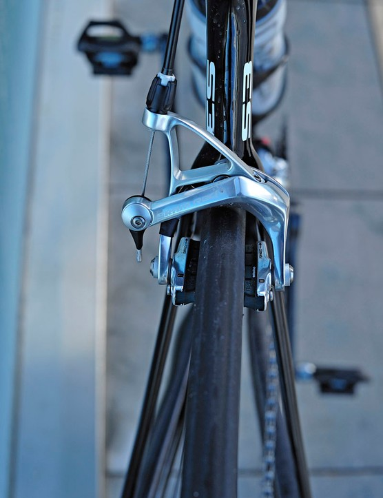 The wishbone-style seat stays on the Cervélo S3 have an impressively slender profile.
