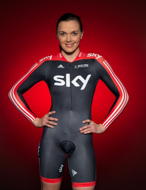 Victoria Pendleton in the new Sky kit